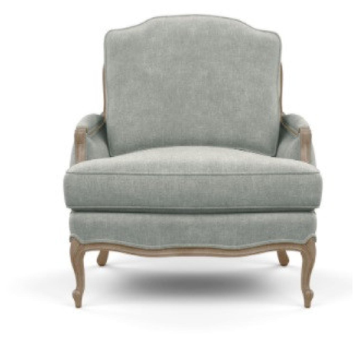 Ethan Allen Gray Versailles Accent Chair - image-8