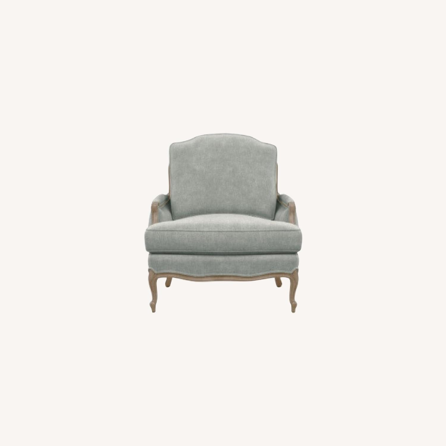 Ethan Allen Gray Versailles Accent Chair - image-0