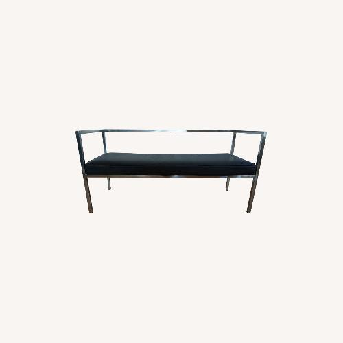 Used France and Son Leather & Chrome Bench for sale on AptDeco