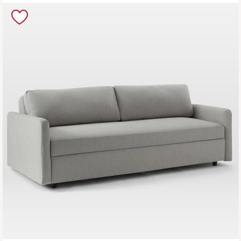 West Elm Clara Sleeper Sofa Without Cushions - image-3
