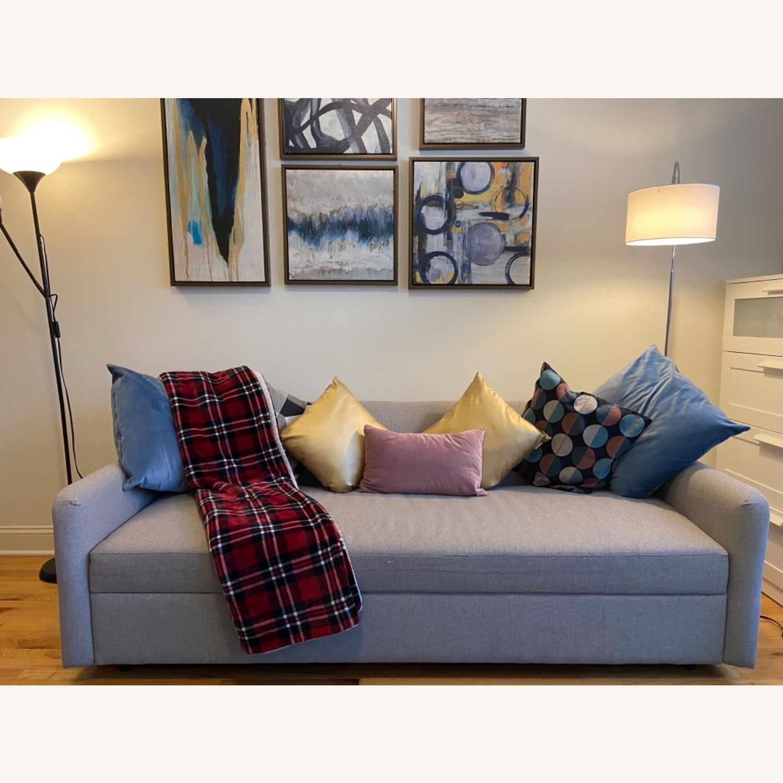 West Elm Clara Sleeper Sofa Without Cushions - image-0