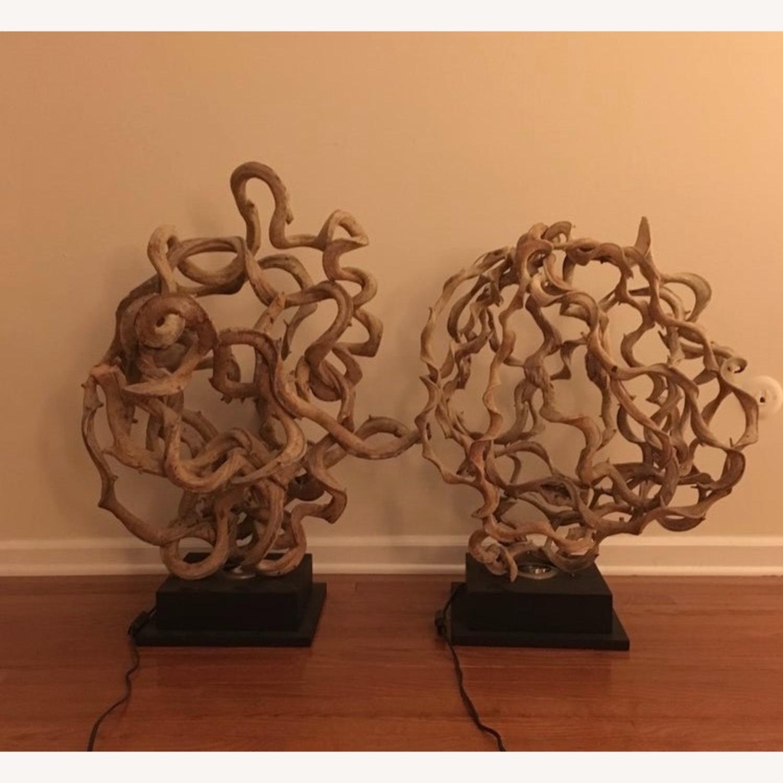 Natural Vine Lamps a pair - image-2