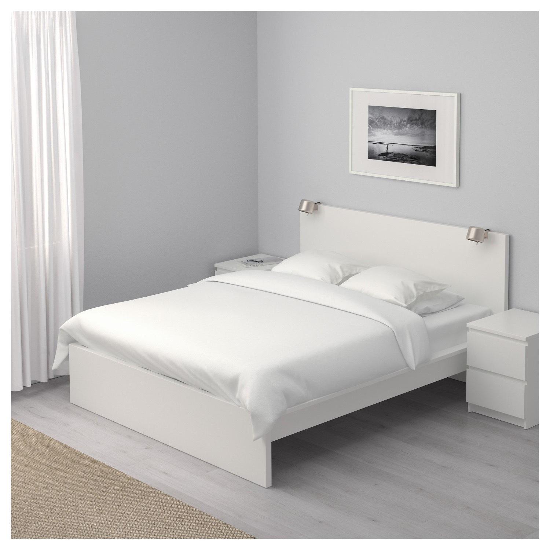 Ikea Queen Malm Bed In White Aptdeco