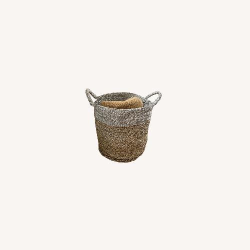 Used West Elm Set of Metallic Baskets for sale on AptDeco