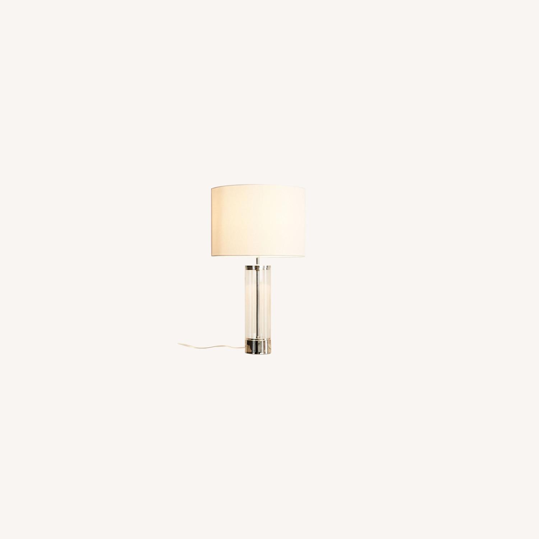 West Elm Acrylic Column Table Lamp - image-0