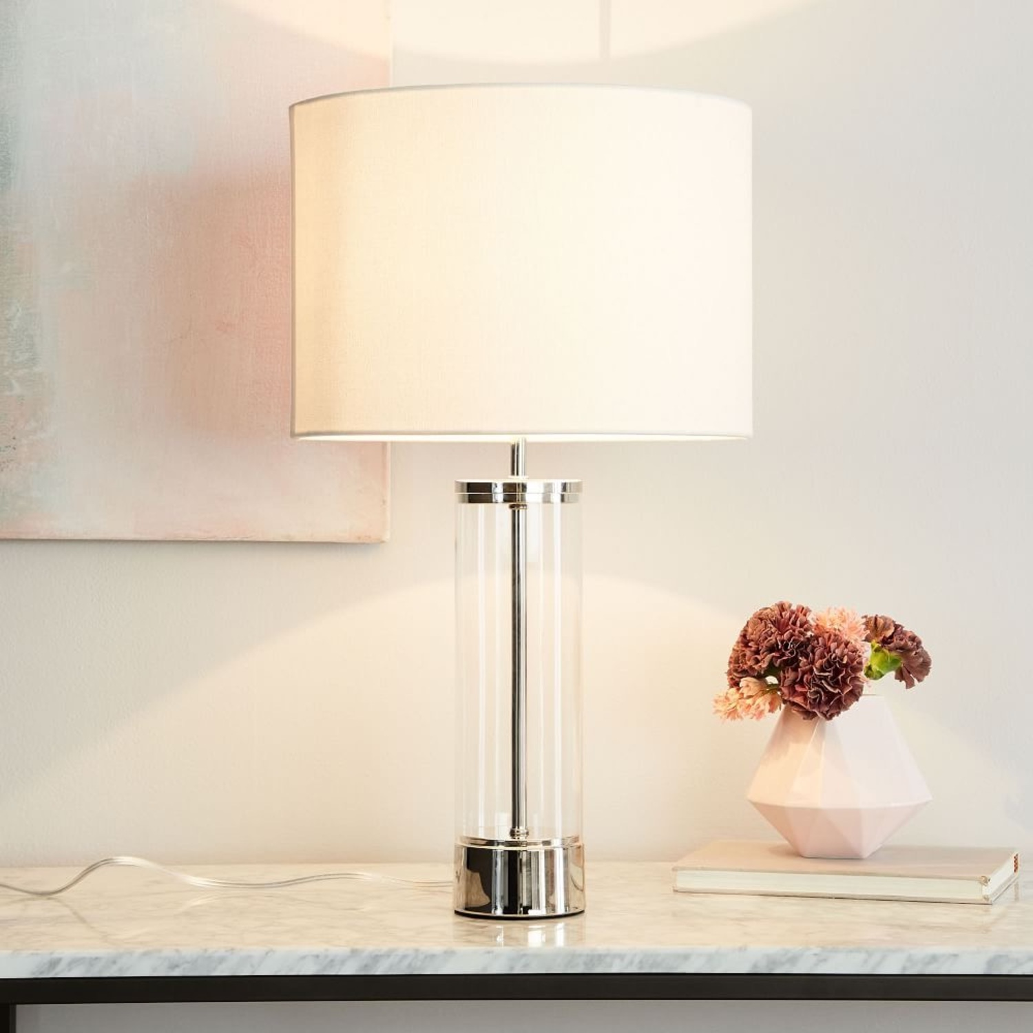 West Elm Acrylic Column Table Lamp - image-1