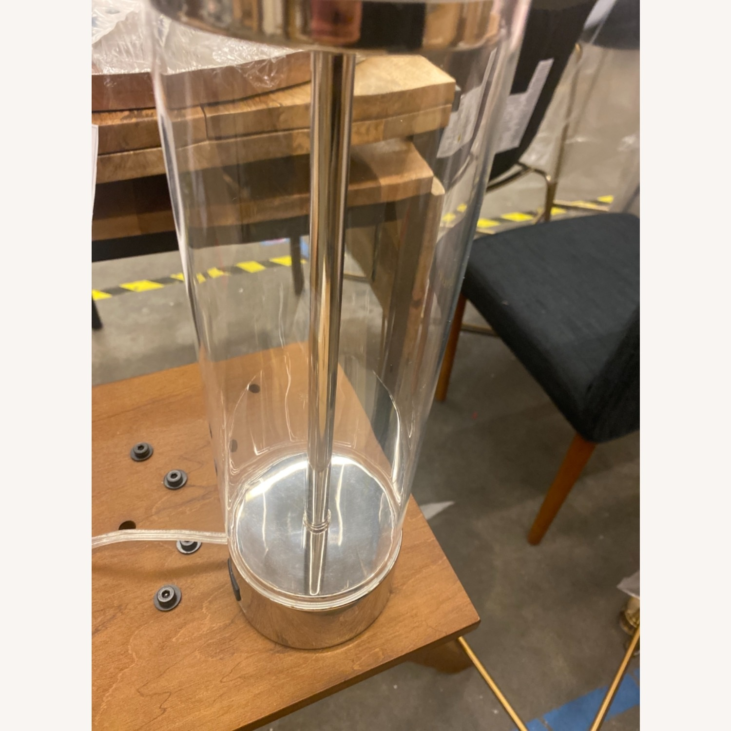 West Elm Acrylic Column Table Lamp - image-3