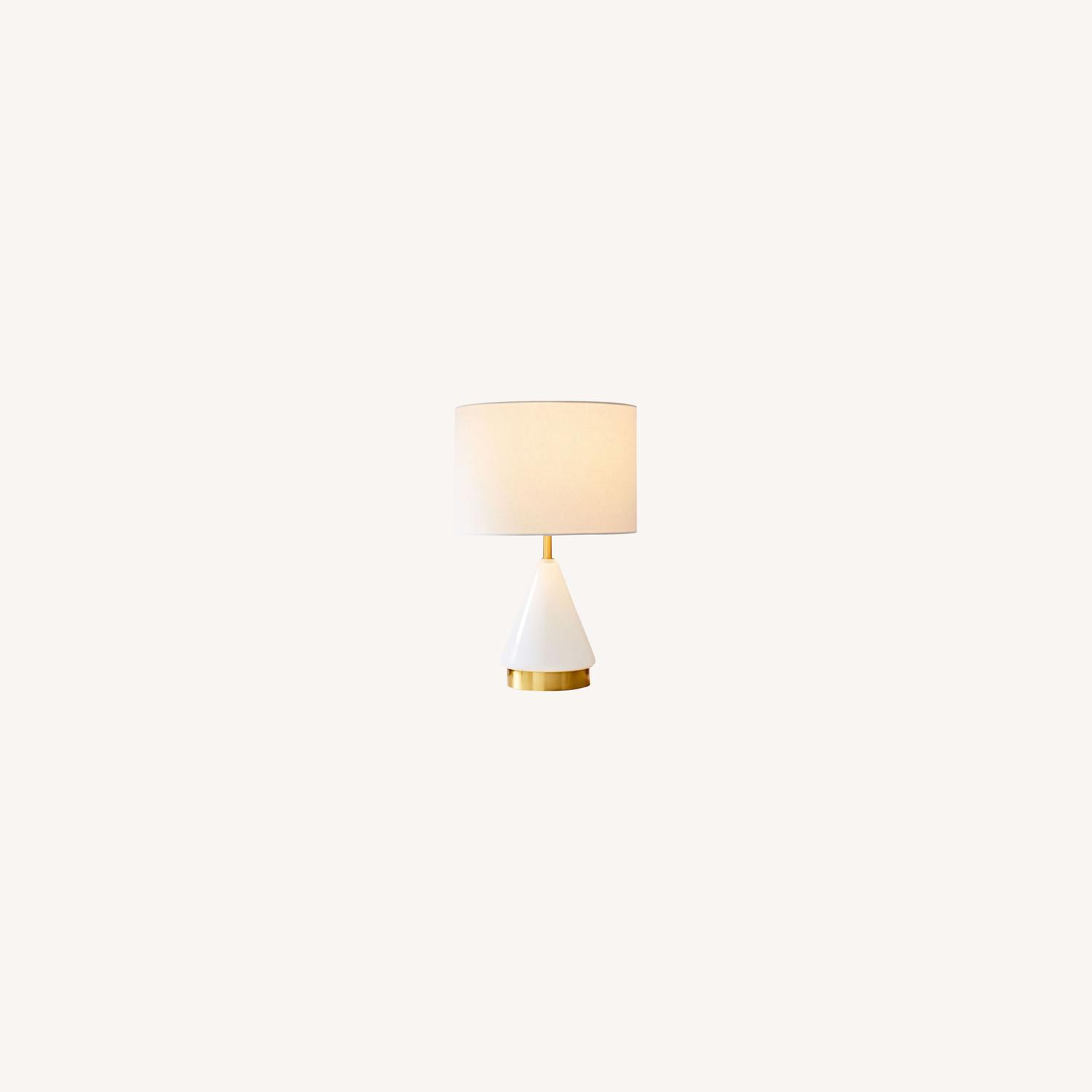 West Elm Metalized White Table Lamp - image-0