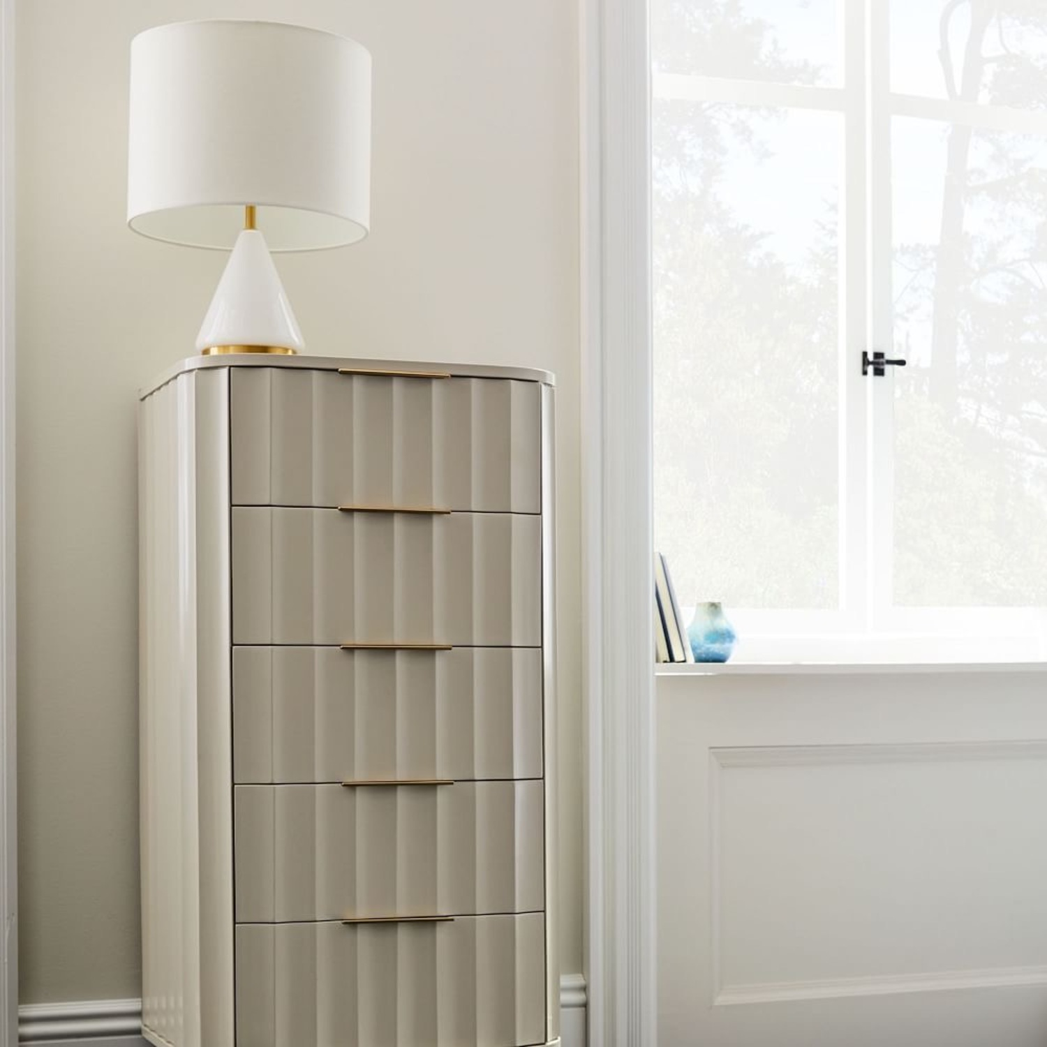 West Elm Metalized White Table Lamp - image-2