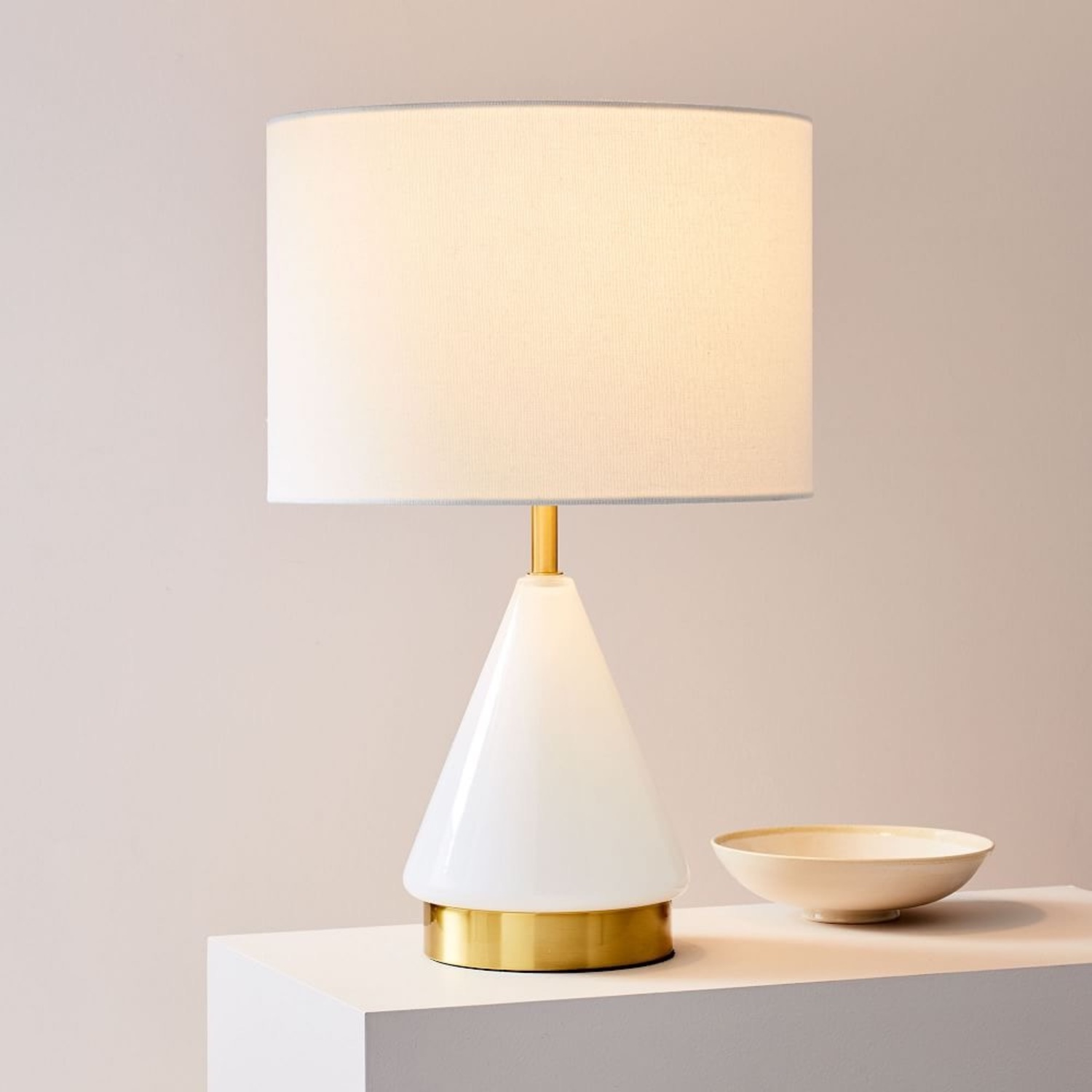 West Elm Metalized White Table Lamp - image-1