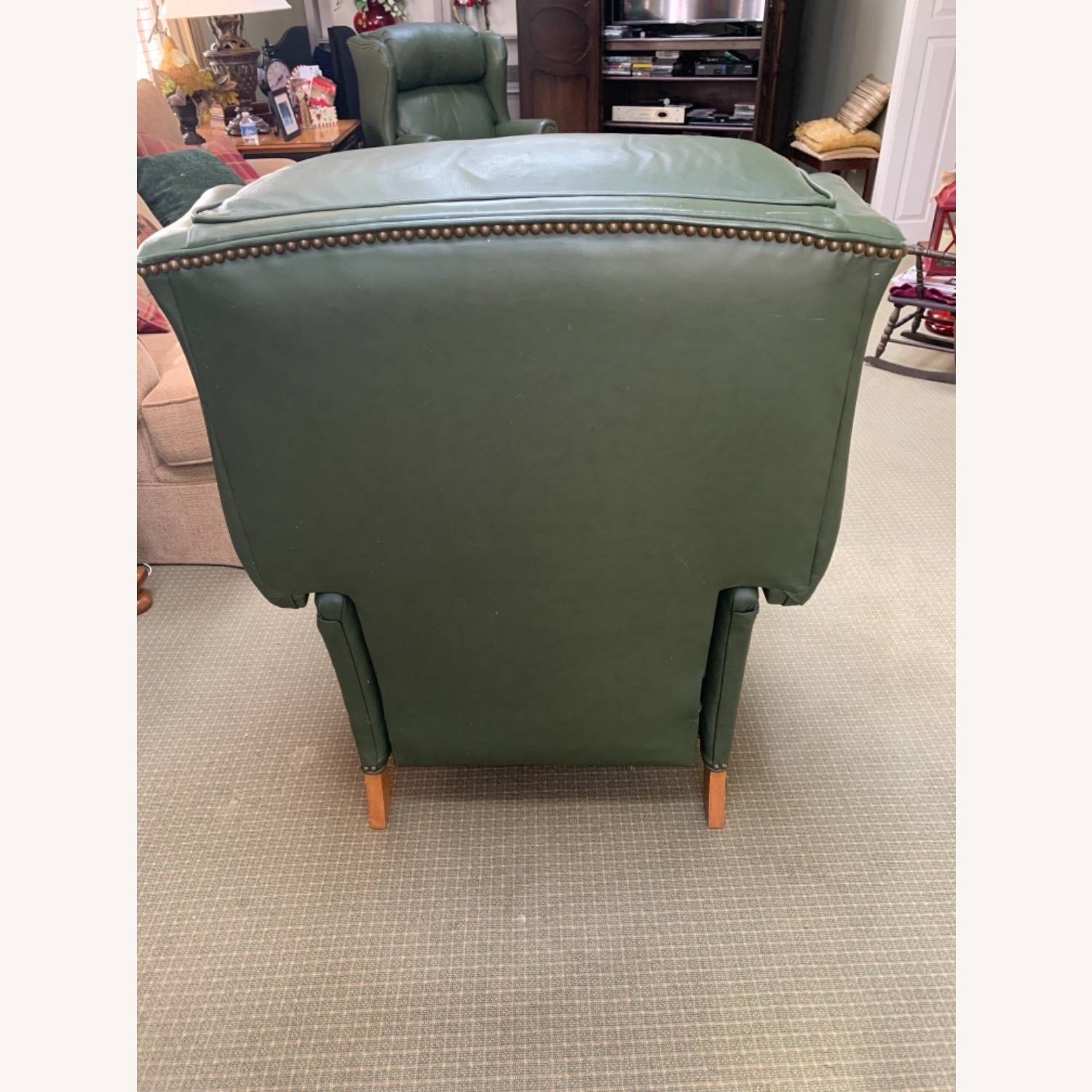 Ethan Allen Green Leather - image-8