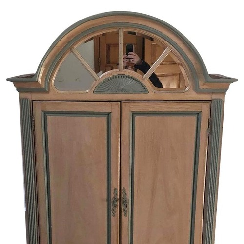 Used Bassett Hand Painted Solid Wood Armoire for sale on AptDeco