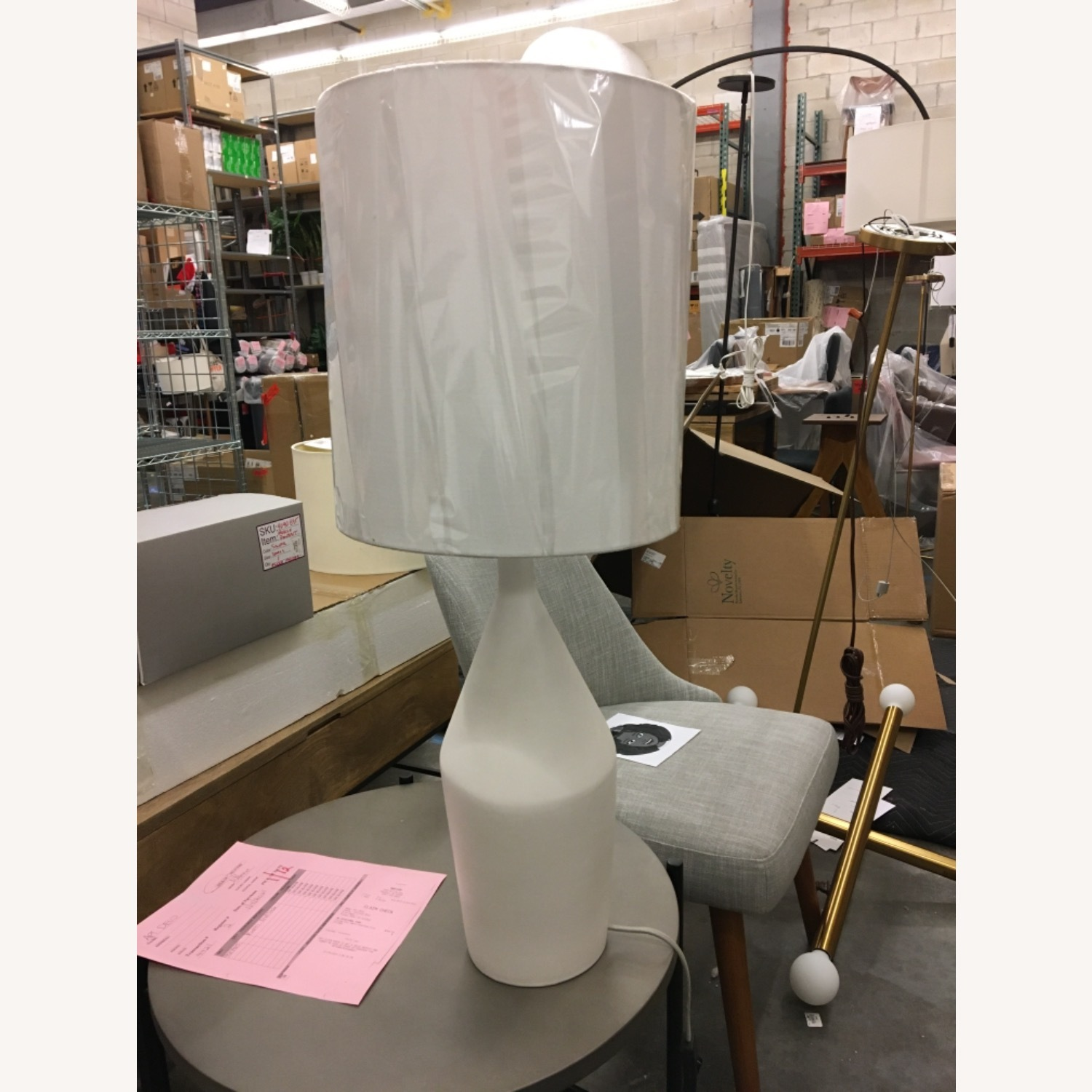 West Elm Asymmetry Tall Table Lamp - image-1