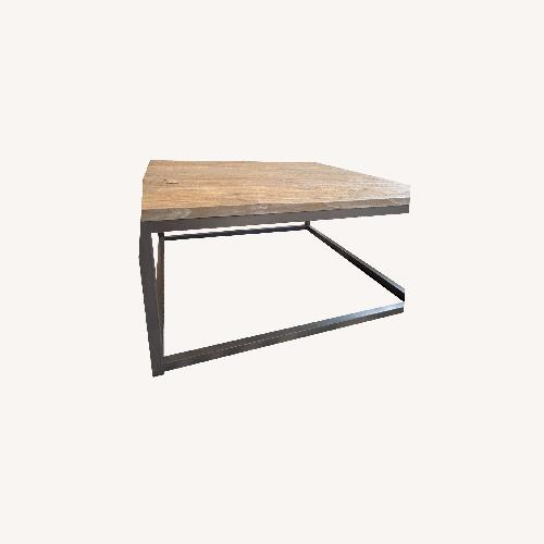 Used Square Grey/ Pewter Coffee Table for sale on AptDeco