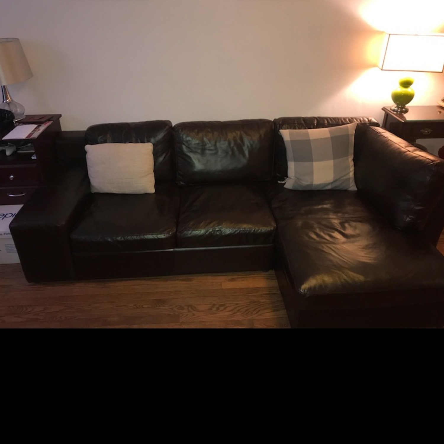 France and Son Leather Sectional Sofa - image-3