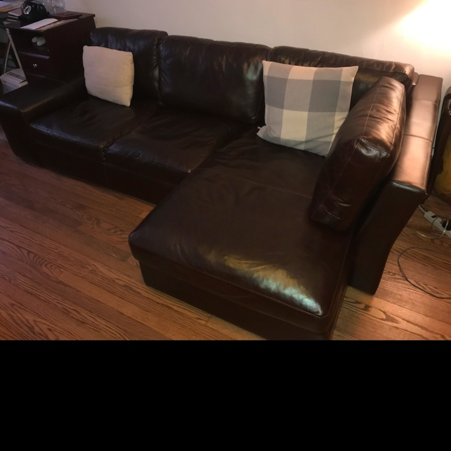 France and Son Leather Sectional Sofa - image-1