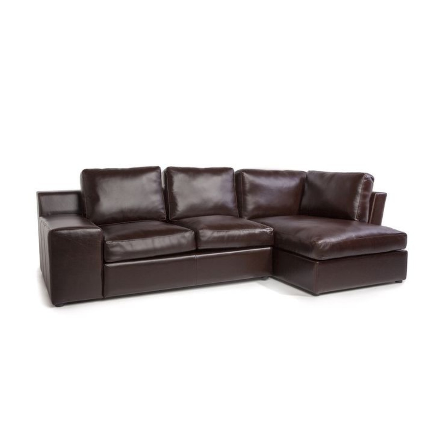 France and Son Leather Sectional Sofa - image-0