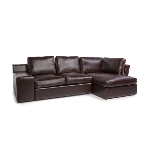 Used France and Son Leather Sectional Sofa for sale on AptDeco