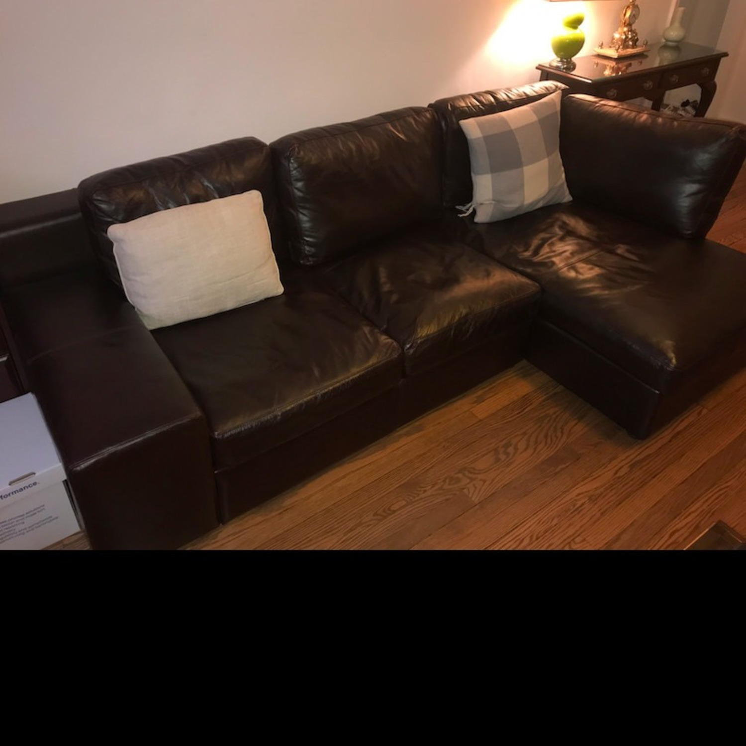 France and Son Leather Sectional Sofa - image-2
