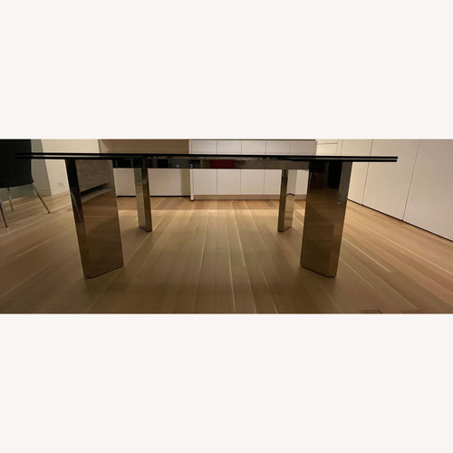 Used Callagaris Glass Extension Dining Table for sale on AptDeco