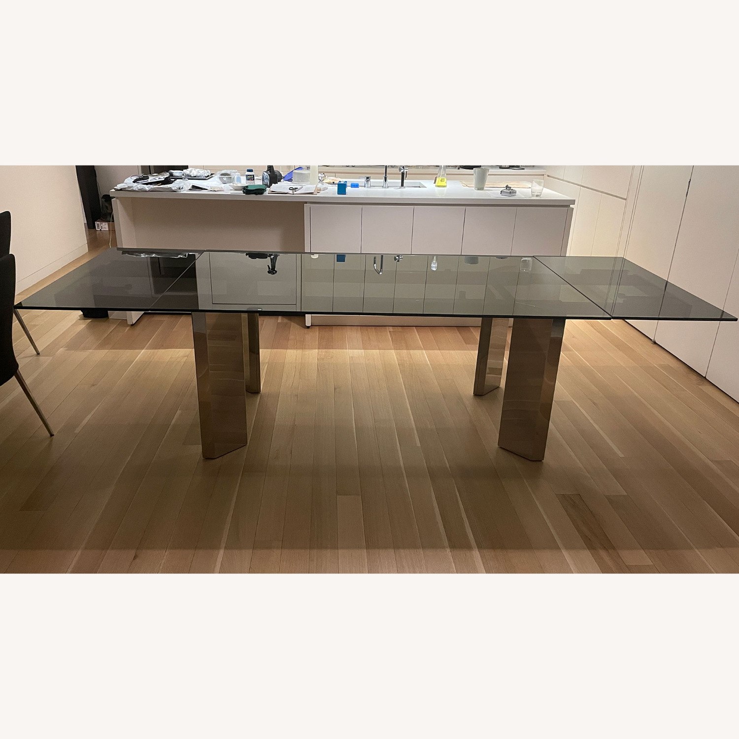 Callagaris Glass Extension Dining Table - image-3