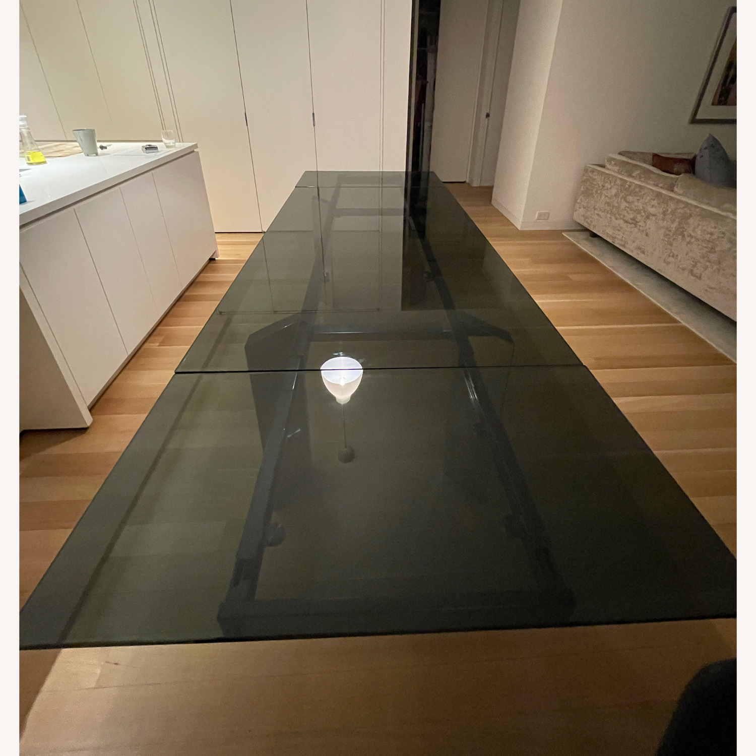 Callagaris Glass Extension Dining Table - image-4
