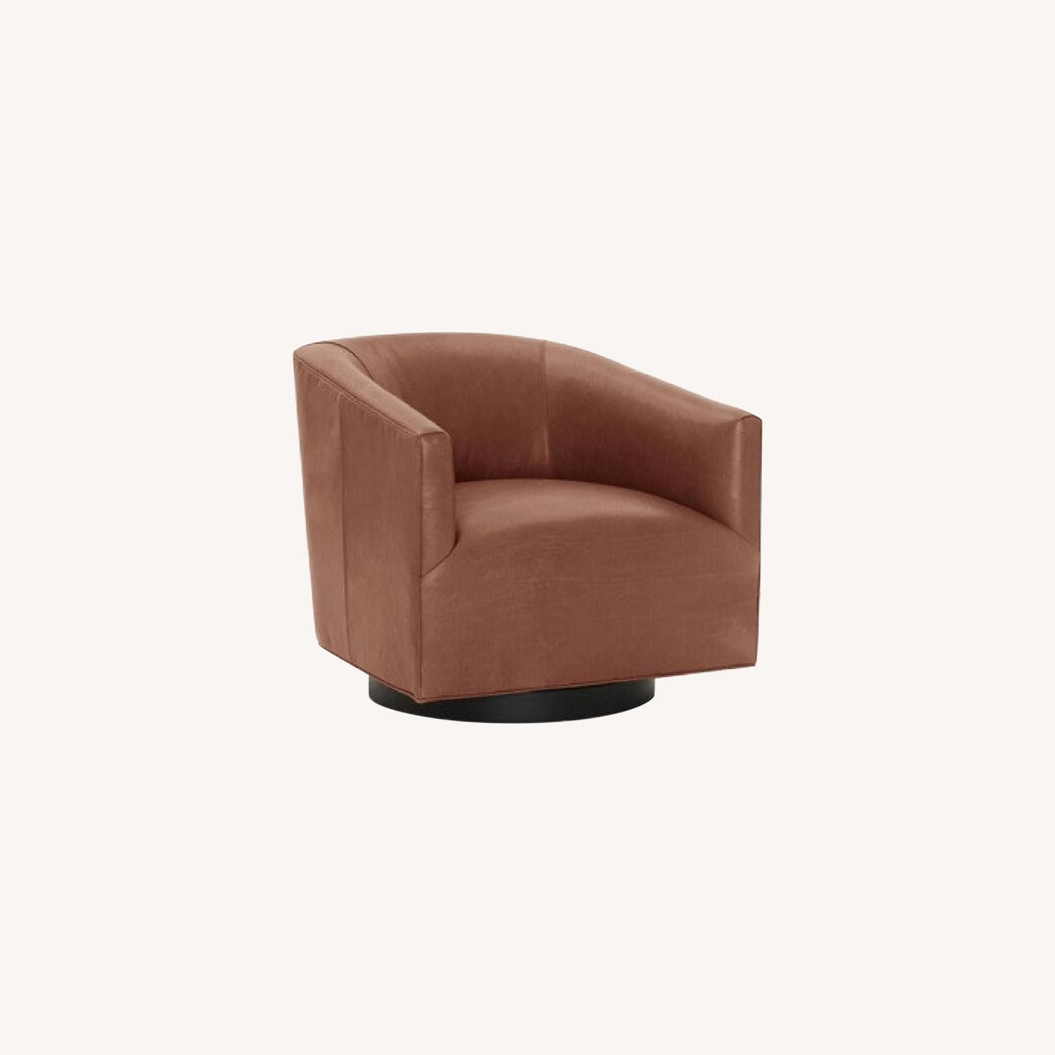 Mitchell Gold + Bob Williams Leather Swivel Chair - image-0