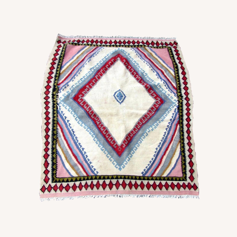 Handmade vintage Persian Ardabil kilim - image-0