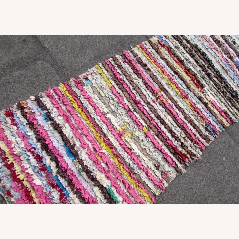 Handmade vintage Moroccan Berber rug - image-4