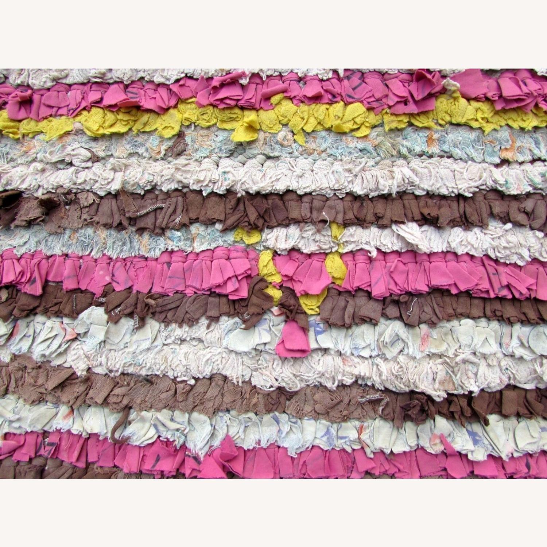 Handmade vintage Moroccan Berber rug - image-10