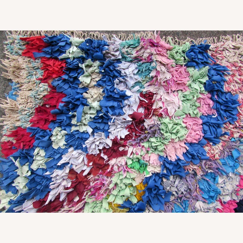 Handmade vintage Moroccan Berber rug - image-1