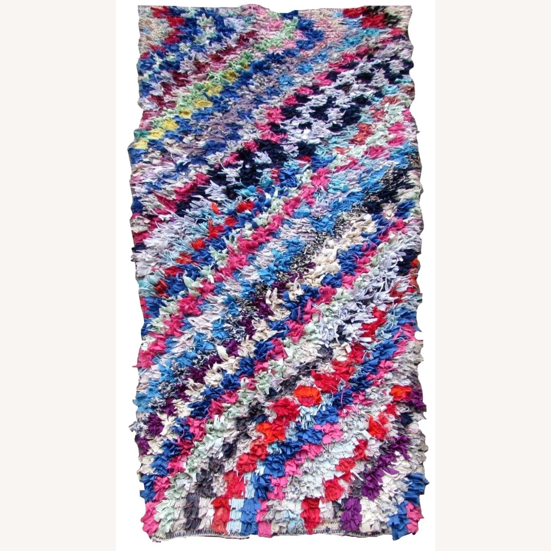 Handmade vintage Moroccan Berber rug - image-11