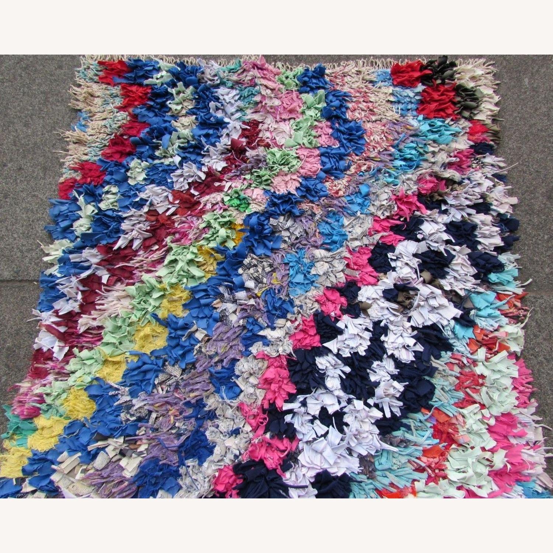 Handmade vintage Moroccan Berber rug - image-9