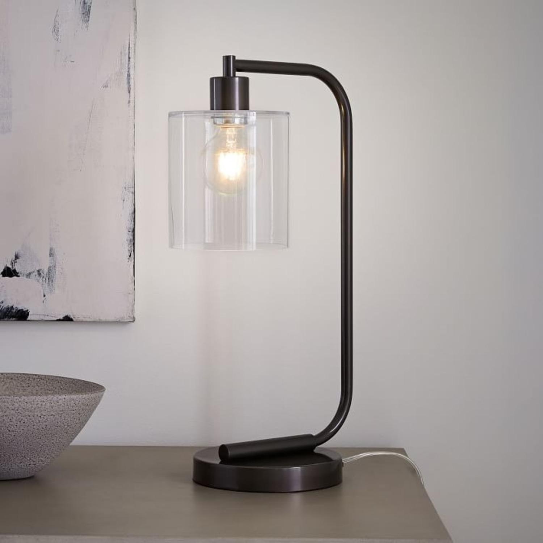 West Elm Lens Table Lamp + USB - image-2