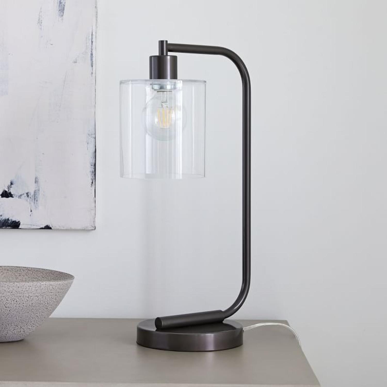 West Elm Lens Table Lamp + USB - image-3