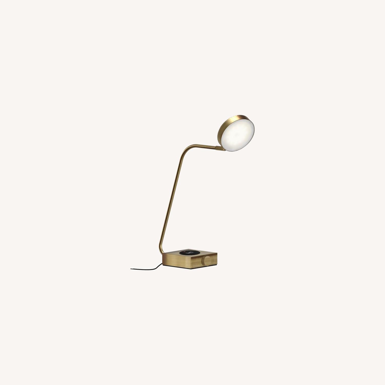 West Elm Industrial Metal LED Charging Task Lamp - image-0