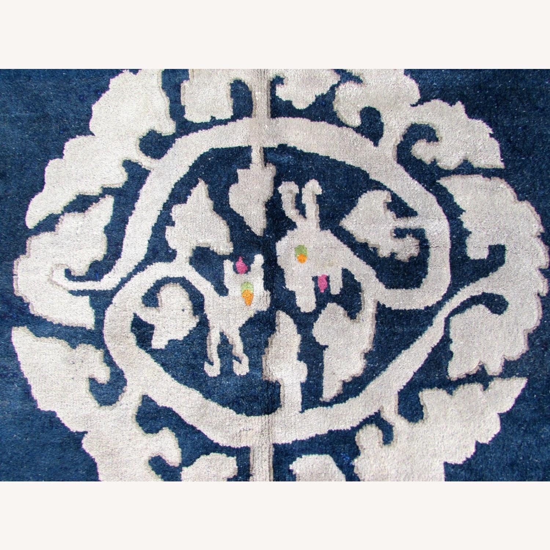 Handmade vintage Art Deco Chinese rug - image-2