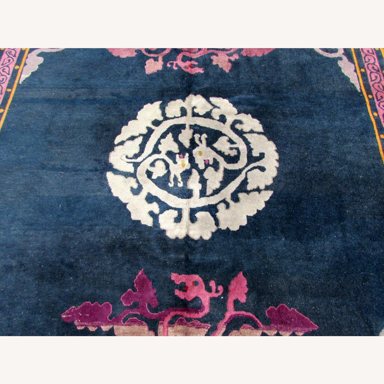 Handmade vintage Art Deco Chinese rug - image-8