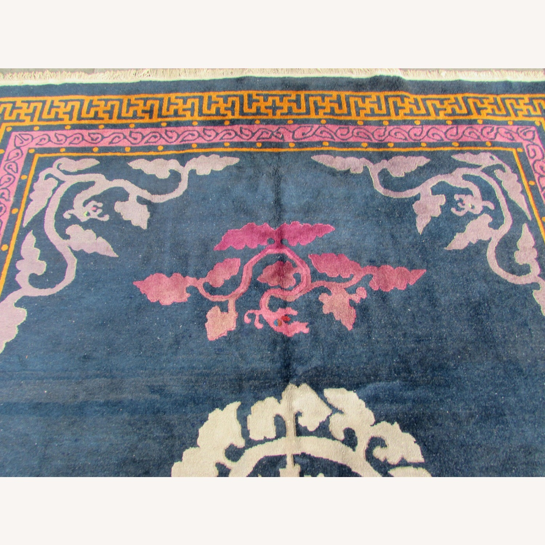 Handmade vintage Art Deco Chinese rug - image-9
