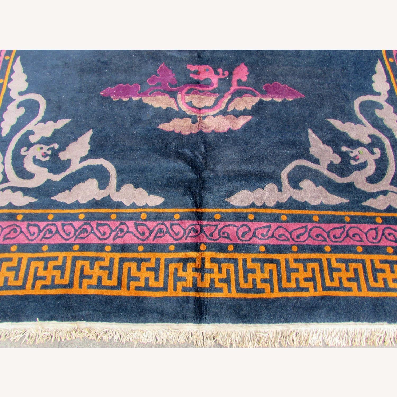 Handmade vintage Art Deco Chinese rug - image-10