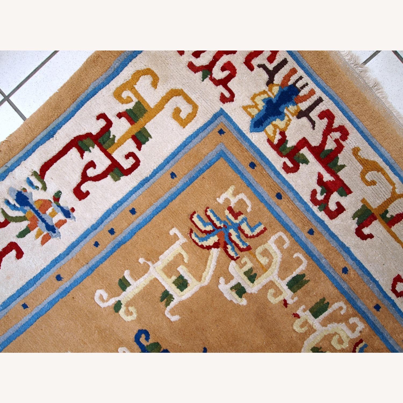 Handmade vintage Art Deco Chinese rug - image-4