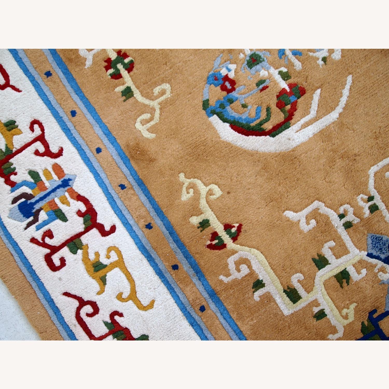 Handmade vintage Art Deco Chinese rug - image-6