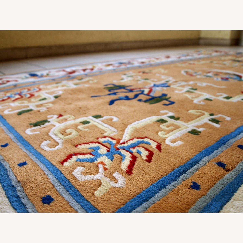 Handmade vintage Art Deco Chinese rug - image-1