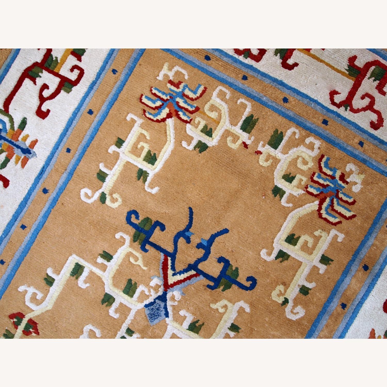 Handmade vintage Art Deco Chinese rug - image-5