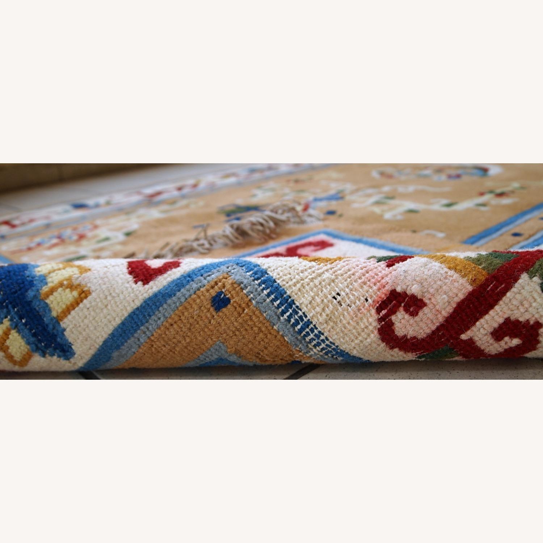 Handmade vintage Art Deco Chinese rug - image-7