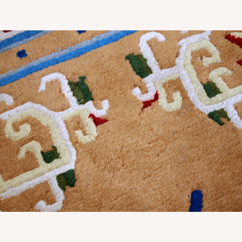 Handmade vintage Art Deco Chinese rug - image-3