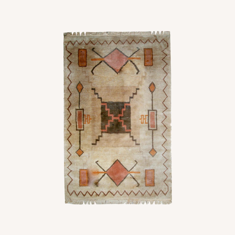Handmade vintage Tibetan Khaden rug - image-0