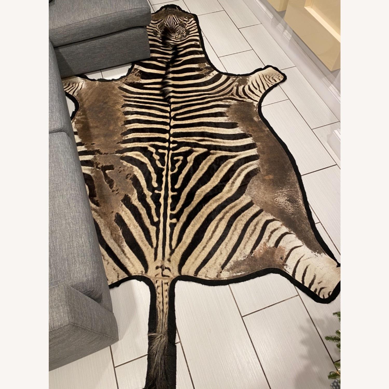 Vintage Real Zebra Hide Rug - image-2