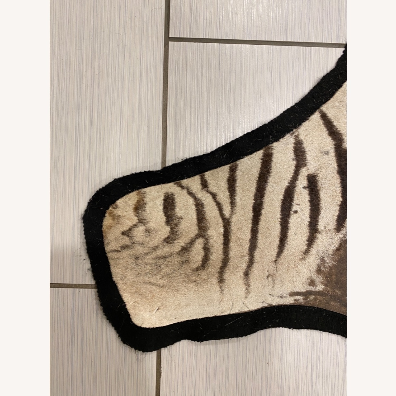 Vintage Real Zebra Hide Rug - image-7