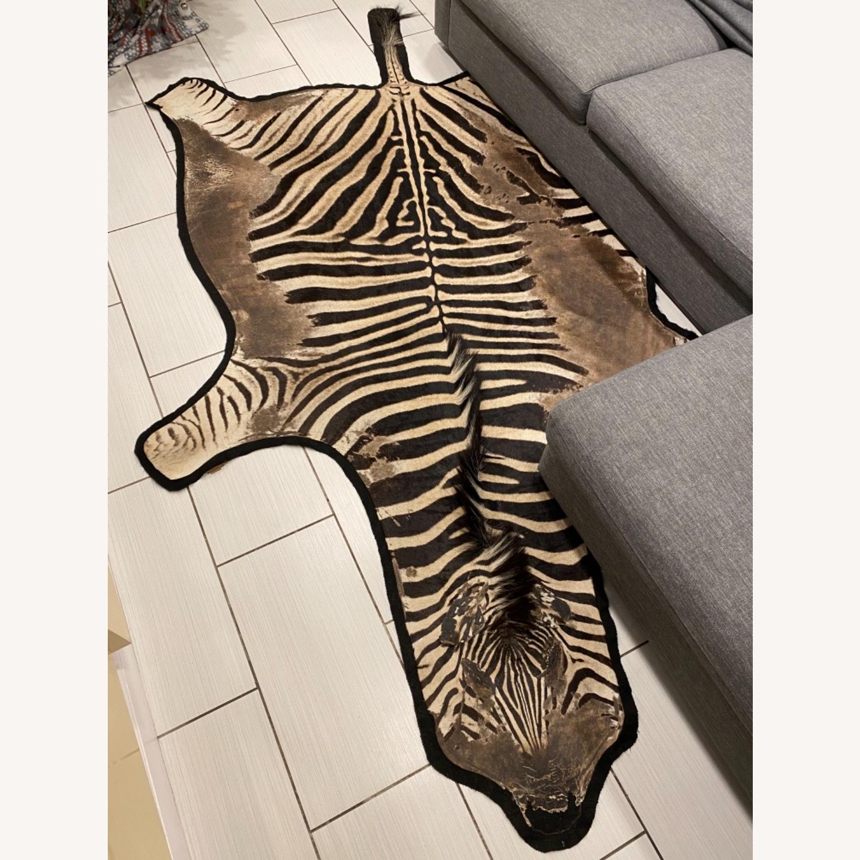 Vintage Real Zebra Hide Rug - image-3